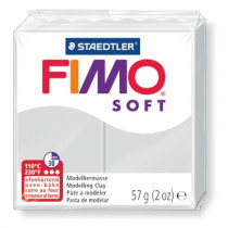 Modelliermasse FIMO® Soft grau 57g