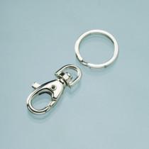 Karabinerhaken klein, drehbar mit Schlüsselring