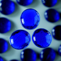 Glas-Nuggets blau