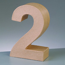 3D Papp-Zahl 17,5cm 2