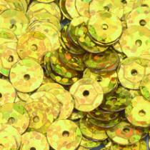 Pailletten gold hologramm 6mm gewölbt 4000 Stück