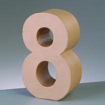 3D Papp-Zahl 17,5cm 8