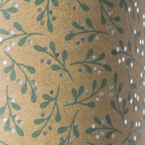 "Naturkarton ""Mistel"" 50 x 70 cm grün/silberfarben glänzend"