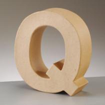 3D Dekobuchstabe aus Pappmasche 17,5cm Q