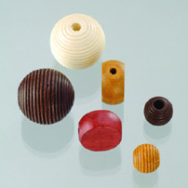 Holzperlen Farb-Formen-Mix brauntöne