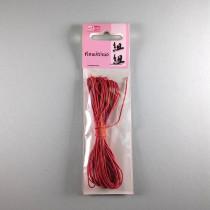 Baumwollkordel rot 1mm gewachst