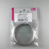 Silberdraht Kupferkern 0,4mm