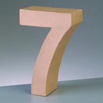 3D Papp-Zahl 17,5cm 7