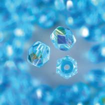 Glasfacettperlen hellblau aqua