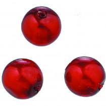 Glaswachsperlen Luster rot