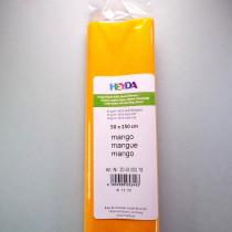 Krepp-Papier mango Rolle 50 x 250 cm