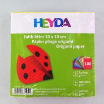 Faltblätter 10x10cm 100 Blätter sortiert