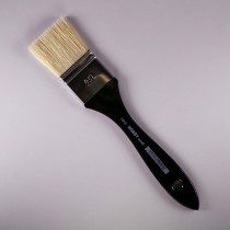 Flachpinsel 40mm weißgebleichte Borste