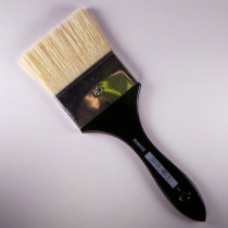 Flachpinsel 80mm weißgebleichte Borste