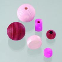 Holzperlen Farb-Formen-Mix pink