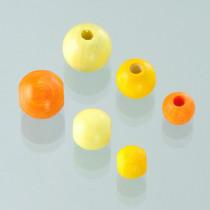 Holzperlen-Mischung gelb-Mix