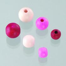 Holzperlen-Mischung rosa-mix