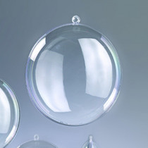 Kunstoff-Medaillon 7cm klar