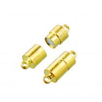 Magnerverschlüsse gold 20mm Hülse