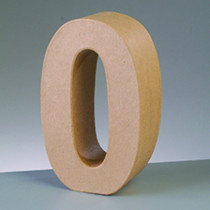 3D Deko-Papp-Zahl 0