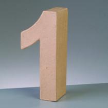 Deko Pappzahl Nr. 1 10cm