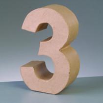 3D Deko-Pappzahl 3 cm