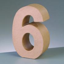 Dekozahl aus Pappe 6 10cm