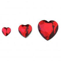 Schmucksteine Set Herz rot