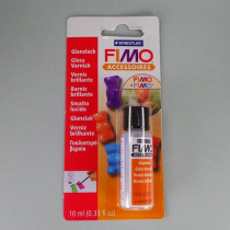 FIMO Glanzlack Glasfläschchen mit 10 ml, Pinsel im Deckel