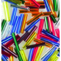 Stiftperlen bunt Silbereinzug