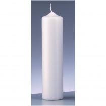 Stumpenkerze weiß 6cm x 25cm