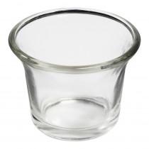 Teelichtglas 6,5cm gewölbt