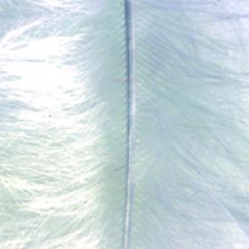 Marabufedern weiß 8 - 10cm 2g