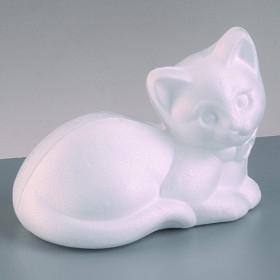 Styropor-Figur Katze liegend 9,5 x 13,5 cm