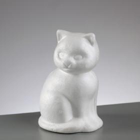 Styropor-Figur Katze 13cm sitzend