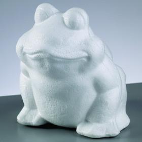 Styropor-Figur Frosch 13cm