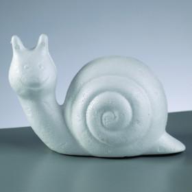 Styropor-Figur Schnecke 10,5cm weiß