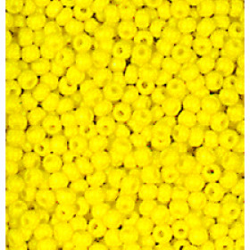 Indianerperlen opak 2,6 mm 17 g gelb