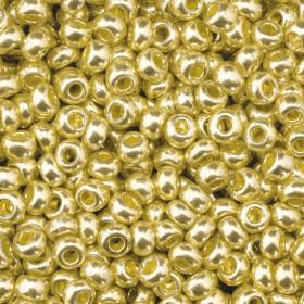 Indianerperlen metallic gold ø 2,6 mm 17g