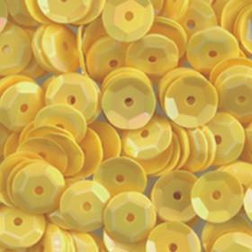 Pailletten gelb 6mm gewölbt 4000 Stück