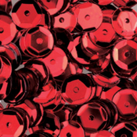Pailletten rot 6mm gewölbt 4000 Stück