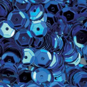 Pailletten blau 6mm gewölbt 4000 Stück