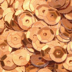 Pailletten congnac 6mm gewölbt 4000 Stück