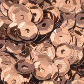 Pailletten braun 6mm gewölbt 4000 Stück