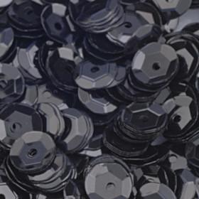 Pailletten schwarz 6mm gewölbt 4000 Stück