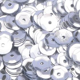 Pailletten silber 6mm gewölbt 4000 Stück
