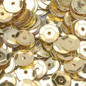 Pailletten gold 6mm gewölbt 4000 Stück