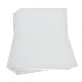 Moosgummiplatte glitter weiß 2mm 20x30cm