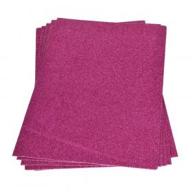 Moosgummiplatte glitter pink 2mm 20x30cm