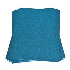 Moosgummiplatte glitter hellblau 2mm 20x30cm